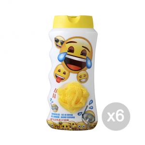 Set 6 AIR-VAL Emoji Gel Doccia 450 Ml Bagnoschiuma Idea Regalo Per Bambini