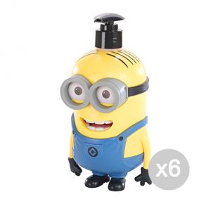Set 6 AIR-VAL Minion Dave 3D 500 Ml Shower Bath & Shower Gift Ideas For Children