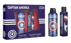 AIR-VAL Coffret Capitan Amérique Colonie Spray Corps + Gel Douche Shampoo 2in1