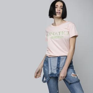 RANPOLLO T-shirt lunatica maglietta a maniche corte taglia L per donna