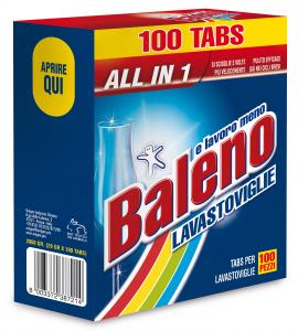 BALENO Tabs lavastoviglie 100 pezzi prodotto detergente per la cucina
