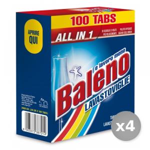Set 4 BALENO Tabs lavastoviglie 100 pezzi prodotto detergente