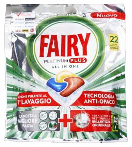 FAIRY Lavastoviglie 22 platinum plus limone prodotto detergente