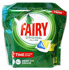 FAIRY Lavastoviglie 22 all in one limone prodotto detergente