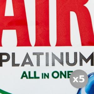Set 5 FAIRY Lavastoviglie 24 platinum original prodotto detergente