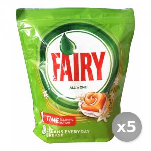 Set 5 FAIRY Lavastoviglie 31 all in one orange prodotto detergente