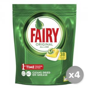 Set 4 FAIRY Lavastoviglie 38 original limone prodotto detergente