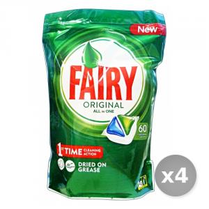 Set 4 FAIRY Lavastoviglie 60 all in one prodotto detergente