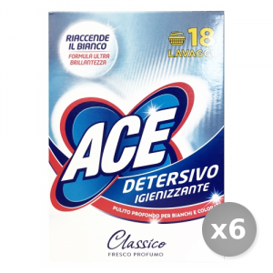 Set 6 ACE Washing machine Powder 18 Measuring devices Box Detergents House