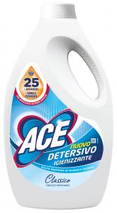 ACE Lavatrice liquido 25 misurini igienizzante classico detergente per bucato