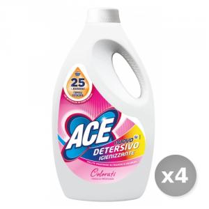 Set 4 ACE Lavatrice liquido 25 misurini igienizzante per capi colorati