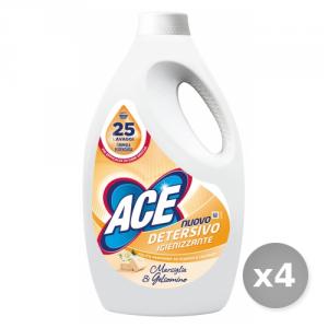 Set 4 ACE Lavatrice liquido 25 misurini igienizzante bucato marsiglia/gelsomino