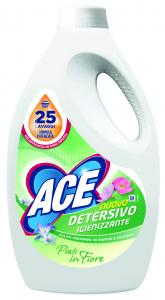 ACE Lavatrice liquido 25 misurini igienizzante prati in fiore per bucato