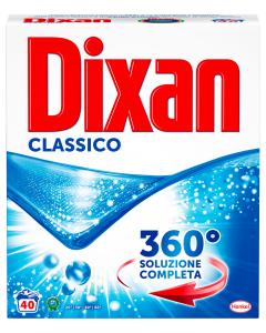 DIXAN Detersivo Lavatrice Fustino Polvere 40 Misurini Classico Per bucato