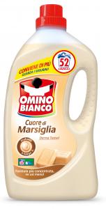 OMINO BIANCO Detersivo Lavatrice Liquido 52 Misurini Marsiglia Per bucato 2,6 Lt