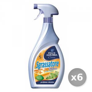 Set 6 FELCE AZZURRA Sgrassatore Trigger 750 ml Detergenti Casa
