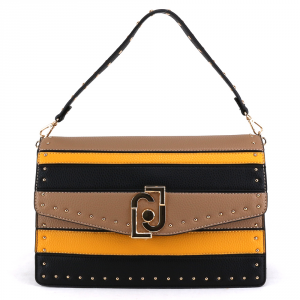 Shoulder bag Liu Jo CREATIVA N69036 E0027 NERO+MAIS+NUEZ
