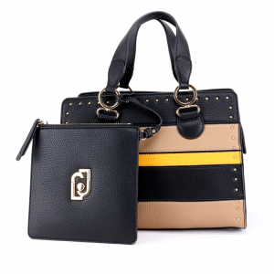 Hand and shoulder bag Liu Jo CREATIVA N69069 E0027 NERO+MAIS+NUEZ
