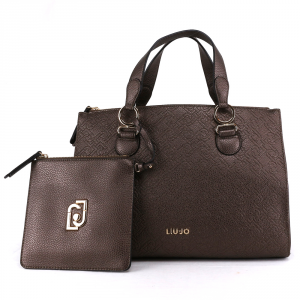 Hand and shoulder bag Liu Jo CREATIVA N69064 E0054 GINGER METAL