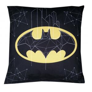 BATMAN cuscino arredo quadrato microfibra 40x40 cm nero Logo