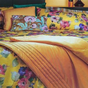Bettbezug Double Maxi mit goldfarbenem Kissenbezug FAZZINI DALIA