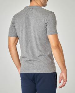 T-shirt grigia con logo Pyrex bianco