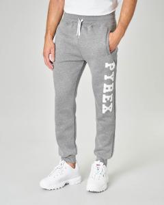 Pantalone in felpa grigio con logo bianco