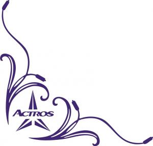 Adesivo interno finestrino  effige palude con logo Actros