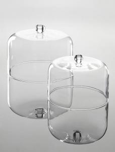 Campana cloche cupola in vetro cm.diam.20