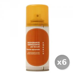 Set 6 RAMPI Deodorante Igiene Tessuti Orange 150 ml Detersivo per Lavatrice e Vestiti