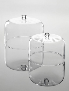 Campana cloche cupola in vetro cm.20h diam.25,5