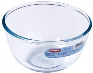 Ciotola multiuso in vetro borosilicato 1 litro cm.10h diam.17