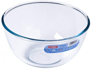 Ciotola multiuso in vetro borosilicato 2 litri cm.11h diam.21