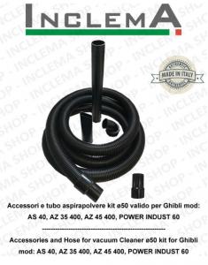 Accessori e tubo aspirapolvere e aspiraliquidi kit ø50 valido per Ghibli mod: AS 40, AZ 35 400, AZ 45 400, POWER INDUST 60