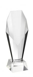 Trofeo in vetro con base cm.23,8h