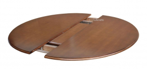 Tavolo ovale bicolore intarsiato 160-210 cm