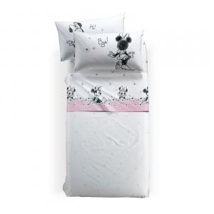 Lenzuola Caleffi completo lenzuolo singolo Disney MINNIE Ciao bianco