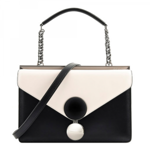 Hand and shoulder bag Cromia BUBBLY 1404359 NERO+BIANCO