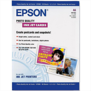 EPSON CARTA FOTOGRAFICA A6 50 CARTOLINE C13SO41054