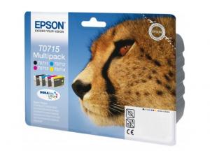Epson T0715 5.5ml 7.4ml Nero, Ciano, Giallo cartuccia d'inchiostro