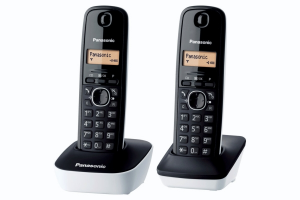 Panasonic KX-TG1612 Telefono DECT Nero, Bianco Identificatore di chiamata