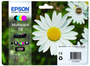 Epson C13T18064022 3.3ml 5.2ml 175pagine 180pagine Nero, Ciano, Giallo cartuccia d'inchiostro