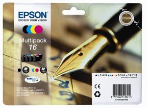Epson C13T16264022 3.1ml 5.4ml 175pagine 165pagine Nero, Ciano, Giallo cartuccia d'inchiostro
