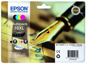 Epson C13T16364022 6.5ml 12.9ml 500pagine 450pagine Nero, Ciano, Giallo cartuccia d'inchiostro
