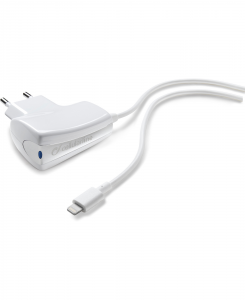 Cellularline Charger - Lightning Caricabatterie 5W compatto e sicuro Bianco