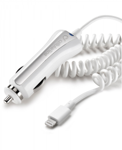 Cellularline Car Charger - Lightning Caricabatterie 5W compatto e sicuro Bianco