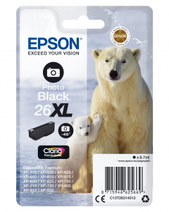 Epson Singlepack Photo Black 26XL Claria Premium Ink 8.7ml Nero 400pagine cartuccia d'inchiostro