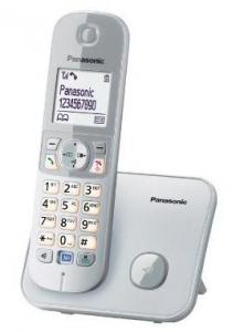 Panasonic KX-TG6811 Telefono DECT Argento, Bianco Identificatore di chiamata