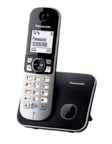 Panasonic KX-TG6811 Telefono DECT Nero, Bianco Identificatore di chiamata
