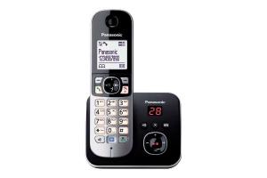 Panasonic KX-TG6821 Telefono DECT Nero, Bianco Identificatore di chiamata